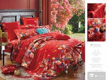 Wedding Bedding Set 40S Jacquard duvet cover set Bed sheet bed linen bedclothes Home textiles