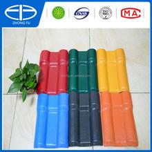 Light weight Plastic spanish tile roof / PVC roof tile
