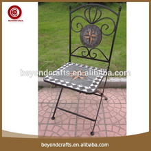 High quality simple design outdoor metal heavy duty folding chair