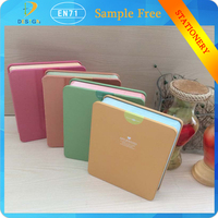 professional customized printing cute iron &paper pink cheap notebook for gift