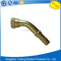Stainless steel hydraulic thread hydraulic fitting with rigid coupling