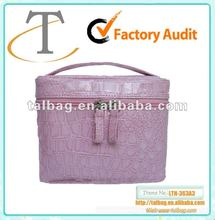 Hot selling croc grain pvc leather cosmetic case