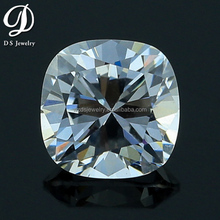 Hot sale AAAAA quality cubic zirconia white color square cut corner