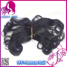 7A Human Virgin Brazilian Hair Lace Closure Bleached Knots 4x4 wavy Swiss Lace Top Closure Middle Parting Free Style