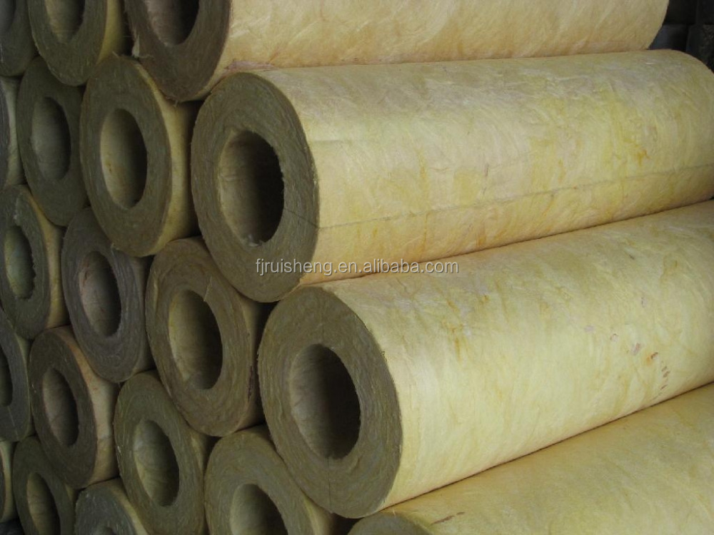 Density 120kg M3 Rock Wool Pipe Pipe Insulation Rock Wool
