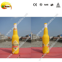 Inflatable beer bottle model for advertising