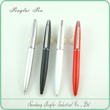 2015 high quality lady pen red silver plated promotional metal ball pen