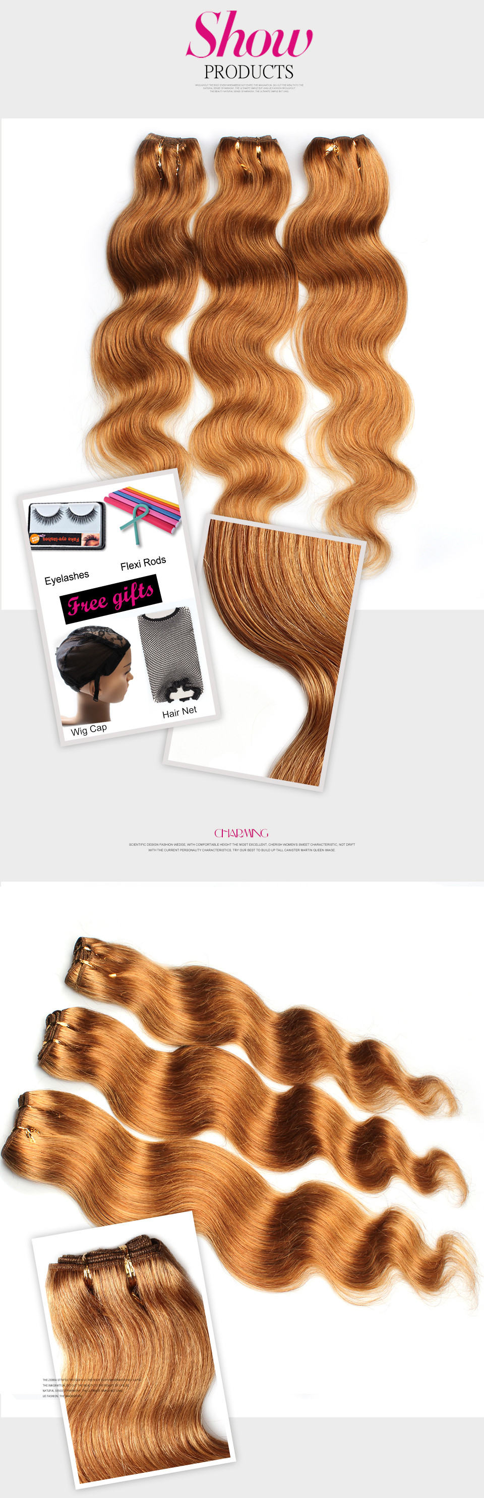 Cheap Brazilian Blonde Hair Body Wave Human Hair Extensions Jerry