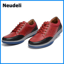 2015 Beathable Genuine Leather Men Sneakers Fashion Flat Heels Leisure Shoes for Man