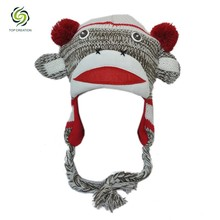 Latest design high quality fashion comfortable knitted baby hats