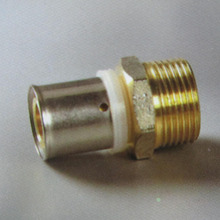 PEX AL PEX Multilayer Pipe Fittings Brass Press Fitting Male Coupling