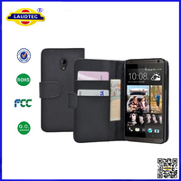 leather case for htc 700 ,for htc 700 wallet cover pouch laudtec