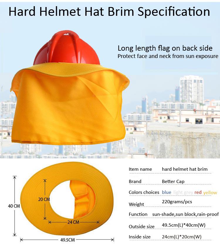 hard helmet hat brim specification