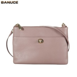 BANUCE 100% Top Grains Cowhide Leather Personalized Messenger Bags For Teens Wholesale