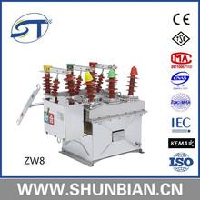 Zw20 intelligent transformer substation 12kv vacuum circuit breaker