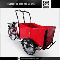 Danish style adult new BRI-C01 passenger 2 front wheel tricycle bike