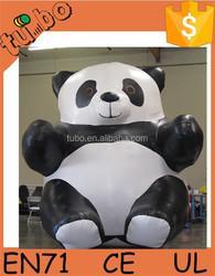 2015 New Design cheap Giant custom Inflatable panda /Inflatable panda cartoon for advertising