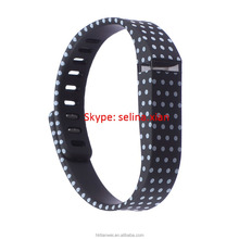 Small Size Black with White Dots Spots Band + Clasp For Fitbit Flex /No Tracker