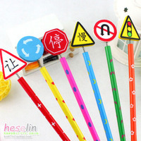 Мольберт Traffic signs pencil cute cartoon traffic signs handmade wooden pencil styluses