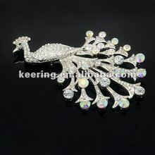 2012 new arrival peacock AB stone brooch animal brooch #WBR-951