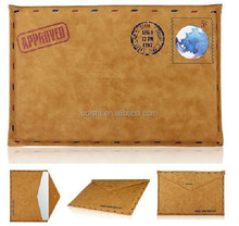 Factory supply classic retro pouch sleeve for ipad leather case