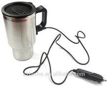 Stainless Steel Silver irish travel Heated keeping Cup Car Adapter Coffee Cup