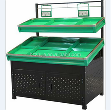 Metal Steel Double Layers Fruit and Vegetable Rack by Manufacturer with Competitive Price