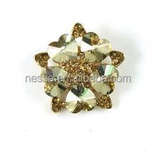 100pcs wholesale crystal rhinestone ribbon slider buckles