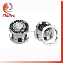 ZhiRen fashionable circled gems screw fit body jewellery, body piercing jewellery