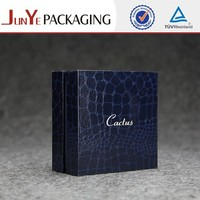 Artificial leather flocking jewelry box kraft boxes for chocolates paperboard box