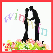 Silhouette bride and groom Acrylic cake toppers for wedding cake