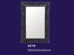 Polyurethane mirror frame PU decoration material high density green leaf mirror frame with high quality