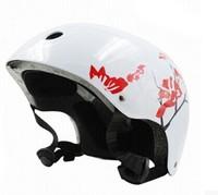 Eco friendly plastic white cycle helmet