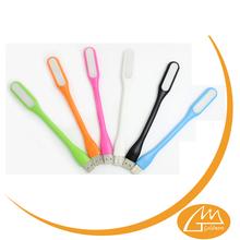 2015 New Products Mini Flexible neck USB bookmark light card holder light pen holder light
