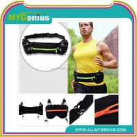 running 2 bottle waist belt ,H0T077, man leather waist bag hip waist bag