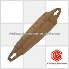 loaded deck,bamboo and fiber glass longboard deck
