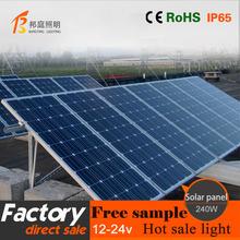 34.6V 240w monoCrystalline Solar panel for solar system