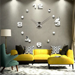 DIY 3D Wall Clock Stickers Room Decor Self Adhesive