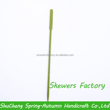 18cm China popular manufacture green bamboo BBQ skewer