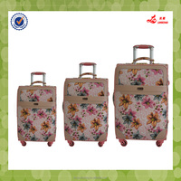 Colorful Flower Printed Lightweight Travel Luggage Set