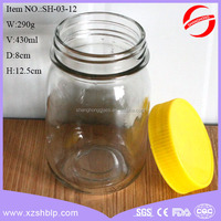 clear empty glass honey jar food grade jar for honey for sale in different shape
