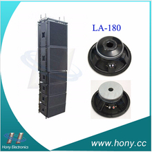 High sensitivity mid range speaker driver for pro audio, great for stacking in a line array