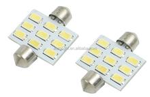 RV LED Light interior lamp DC 12V 5630 9 SMD White Dome Festoon Car LED Light Bulb Lamp