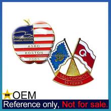 Custom Made Metal Lapel Pin New York Big Apple Country Flag Badges