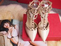 2014 Design fashion rivet high heel shoes for women