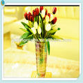 tall clear vaso de vidro murano