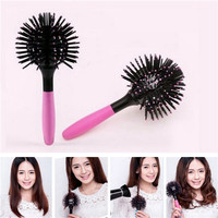 Women Combs 3D Hair Brush Ball Salon Heat Resistant Comb Blow Drying Detangling Hairstyle Hairdressing Barber Tool