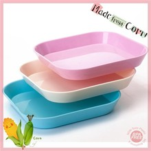 Cheap Eco Plastic Baby Plates, Biodegradable Square Kids & Children Plates