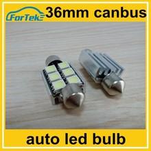 dc 12v festoon auto led light 36cm canbus 5050