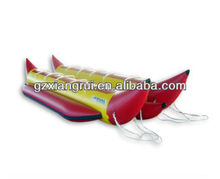 2013 Inflatable banana boat/Towable water banana made by PLATO 0.9mm PVC